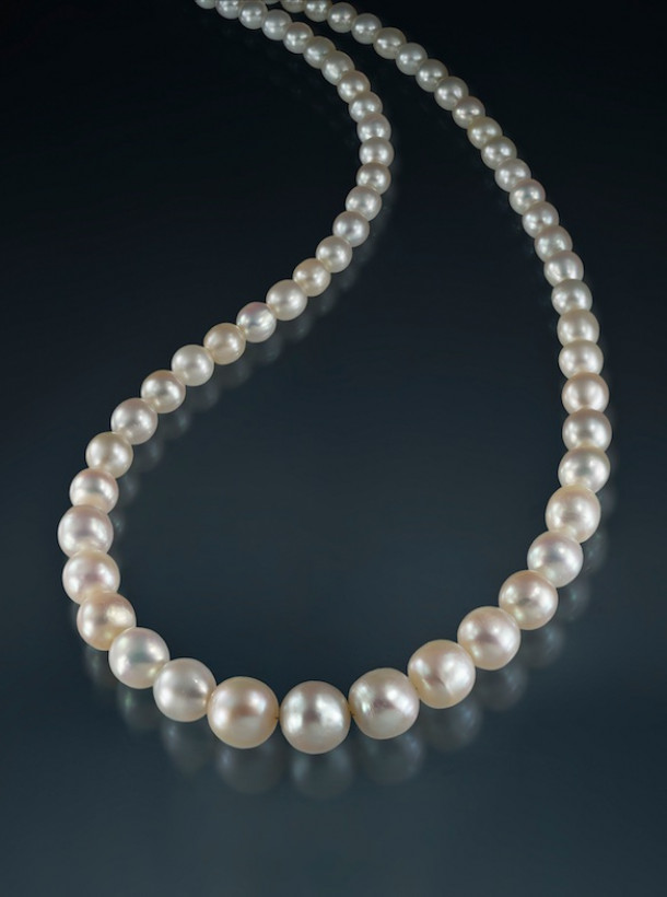 Natural pearl necklace 4.5 - 9.5 mm